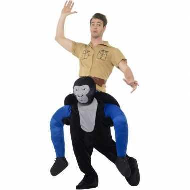 Carnaval apenkostuum gorilla volwassenen