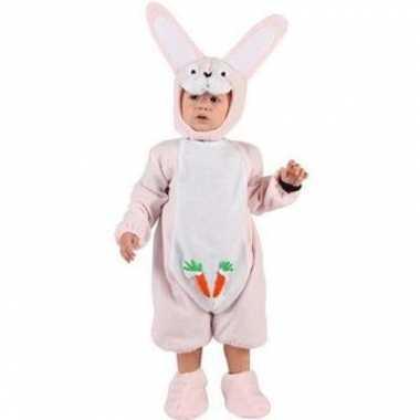 Carnaval  Baby kostuum roze konijntje