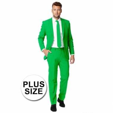 Carnaval  Big size heren kostuum groen