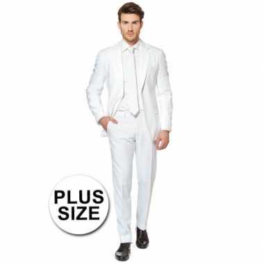 Carnaval  Big size heren kostuum wit