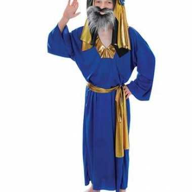 Carnaval  Blauw kerst kostuum Drie Wijzen