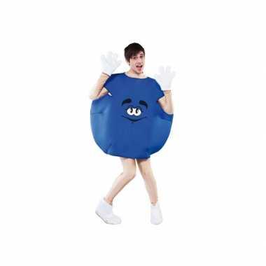 Carnaval  Blauw snoep kostuum
