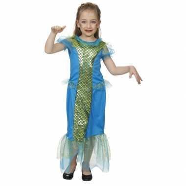 Carnaval  Blauw zeemeermin kostuum meisjes