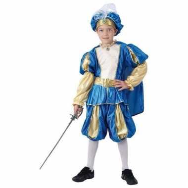 Carnaval blauwe oosterse prins kostuum jongens