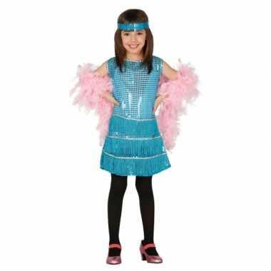 Carnaval  Blauwkleurige jurk meisjes kostuum