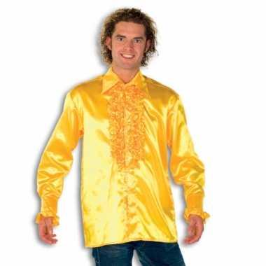 Carnaval  Blouse geel rouches heren kostuum