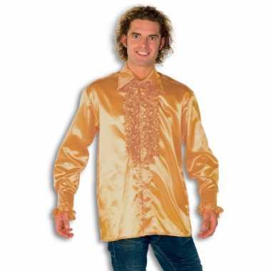 Carnaval  Blouse goud rouches heren kostuum