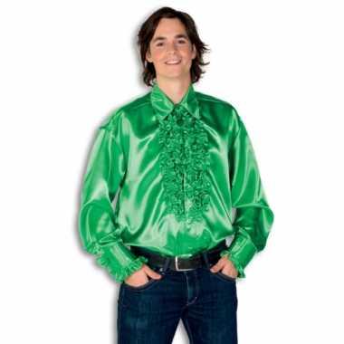 Carnaval  Blouse groen rouches heren kostuum