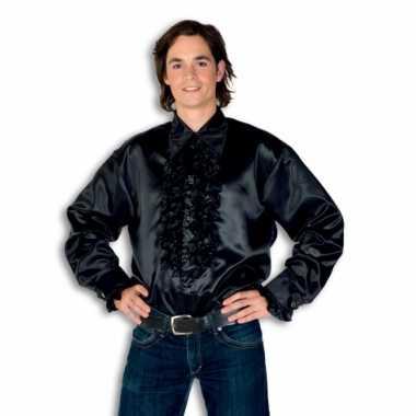 Carnaval  Blouse zwart rouches heren kostuum