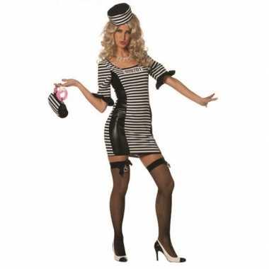 Carnaval  Boeven jurkje hoed dames kostuum