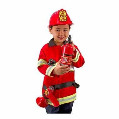 Carnaval  Brandweer kostuum kids compleet