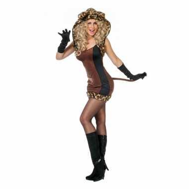 Carnaval  Bruin katten kostuumje dames