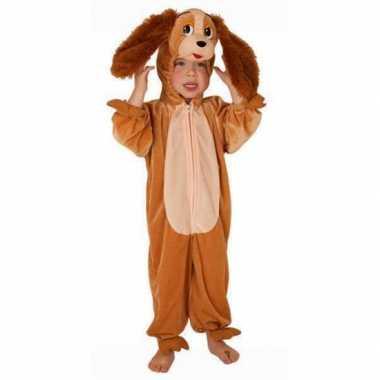 Carnaval  Bruine hond pak kinderen kostuum