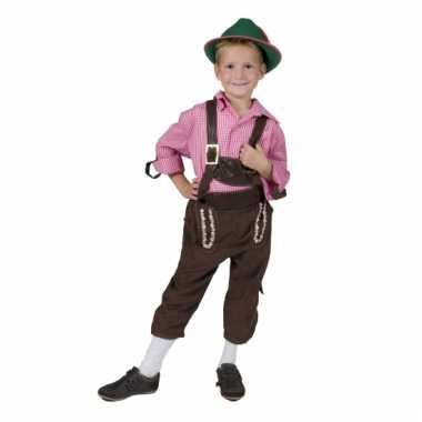 Carnaval  Bruine tiroler broek kinderen kostuum