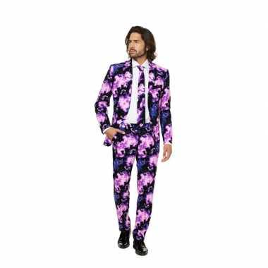 Carnaval business suit galaxy print kostuum