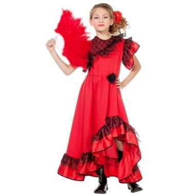 Carnaval  Carmen jurk meiden kostuum