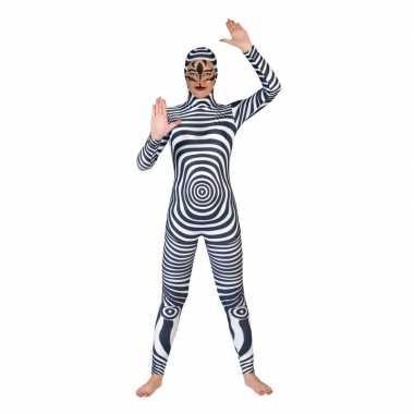 Carnaval catsuit zebra print volwassenen kostuum