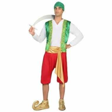 Carnaval/feest arabische strijder/soldaat amir verkleedpak heren kos