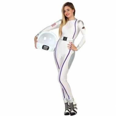 Carnaval feest astronauten verkleed pak dames