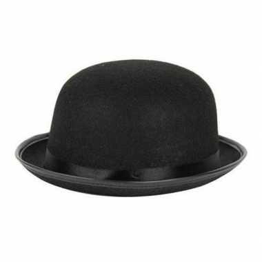 Carnaval/feest bolhoed/bowler hat zwart volwassenen kostuum