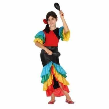 Carnaval feest braziliaanse verkleedpak jurk meisjes