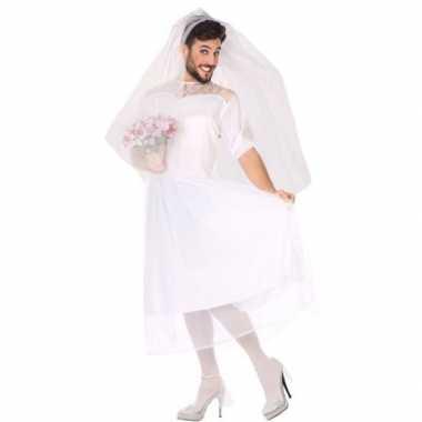 Carnaval/feest fun bruid verkleed pak heren kostuum