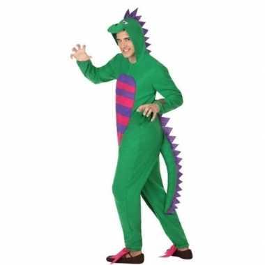 Carnaval/feest groene draak verkleed pak volwassenen kostuum