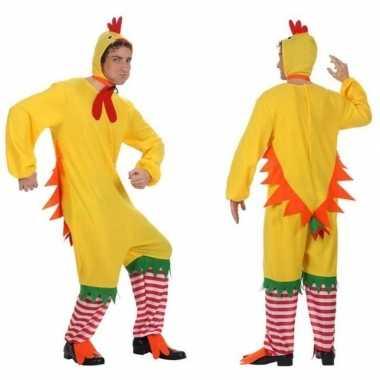 Carnaval feest haan kip kuiken verkleed pak heren