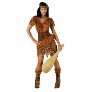 Carnaval/feest holbewoonster ayla oertijd verkleedpak dames kostuum