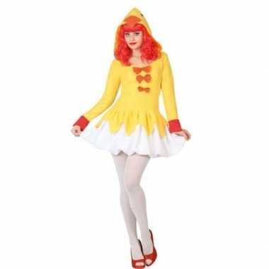 Carnaval/feest kip/kuiken verkleed pak dames kostuum
