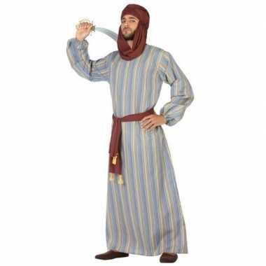 Carnaval/feest lange arabische verkleedpak ali heren kostuum