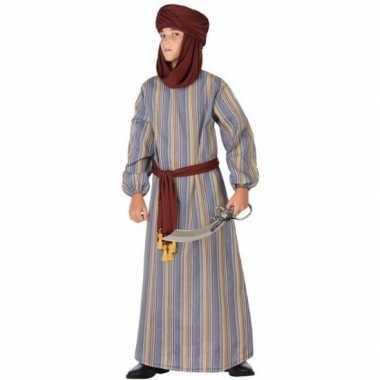 Carnaval/feest lange arabische verkleedpak ali jongens kostuum