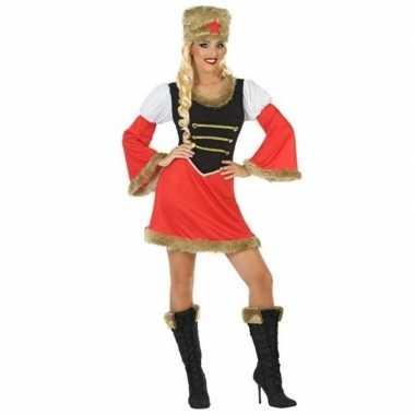 Carnaval/feest russische kozak verkleedpak dames kostuum