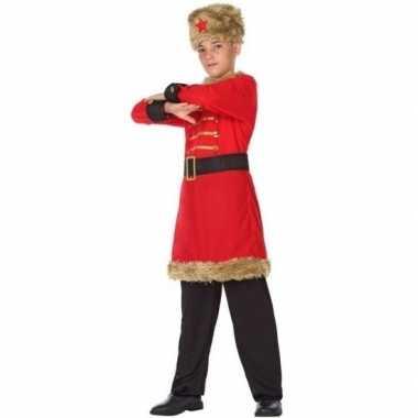 Carnaval/feest russische kozak verkleedpak jongens kostuum