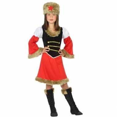 Carnaval/feest russische kozak verkleedpak meisjes kostuum