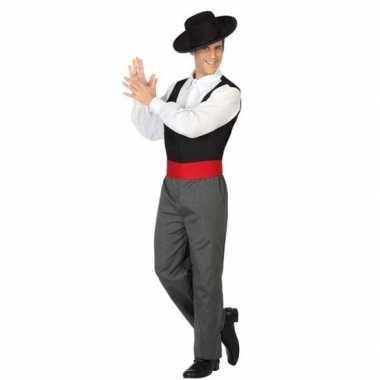 Carnaval/feest spaanse flamenco dansers verkleedpak heren kostuum