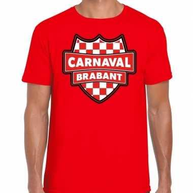 Carnaval verkleed t shirt brabant rood heren kostuum
