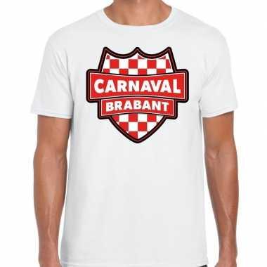 Carnaval verkleed t shirt brabant wit heren kostuum