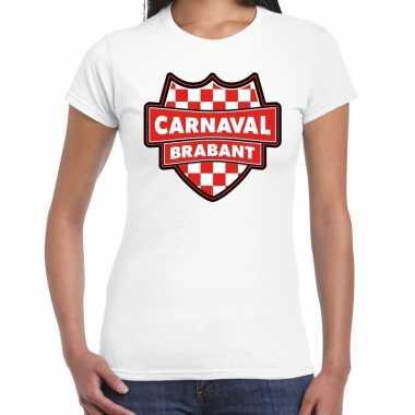 Carnaval verkleed t shirt brabant wit voor dames kostuum