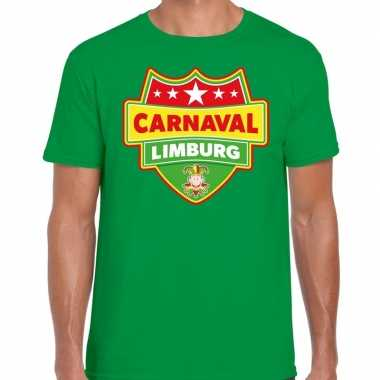 Carnaval verkleed t shirt limburg groen heren kostuum