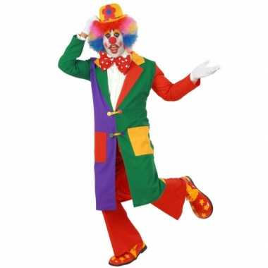 Carnavalskostuum Clown jas volw.