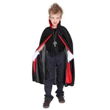 Carnavalskostuum dracula/vampier verkleed cape jongens/meisjes/kinde