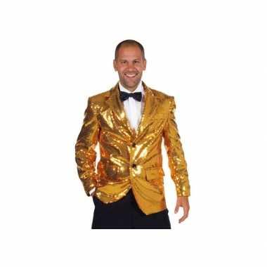 Carnavalskostuum gouden colbert