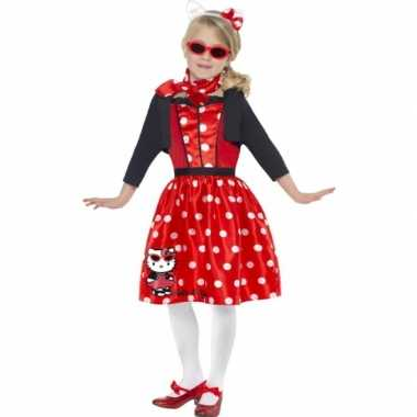 Carnavalskostuum Hello Kitty rood