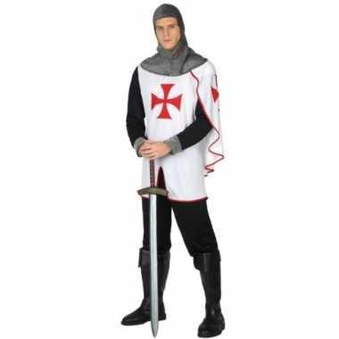 Carnavalskostuum middeleeuwse kruistocht ridder heren