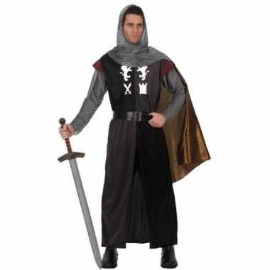 Carnavalskostuum middeleeuwse ridder heren