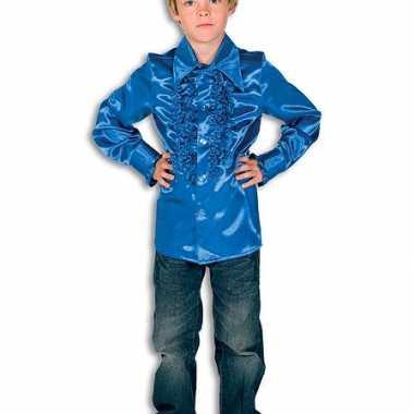 Carnavalskostuum rouches kobaltblauw kinderen 10037350