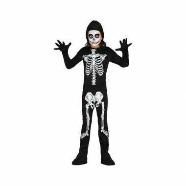 Carnavalskostuum skelet kostuum kinderen
