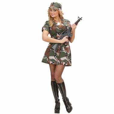 Carnavalskostuum soldaat jurkje