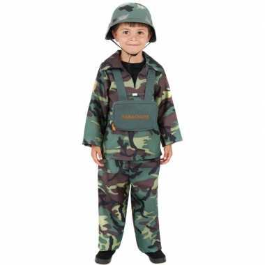 Carnavalskostuum soldaat kinderen